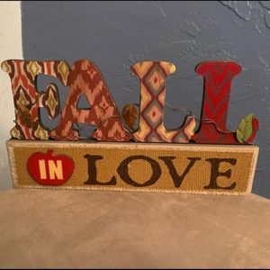 Fall Signs Home Decor